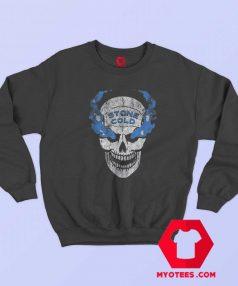 WWE Stone Cold Distressed Blue Smoke Sweatshirt