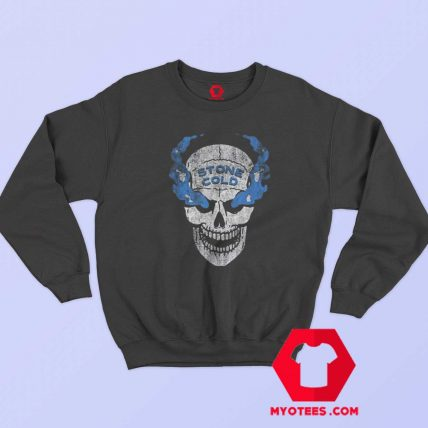 WWE Stone Cold Distressed Blue Smoke Sweatshirt