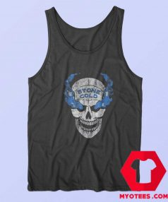 WWE Stone Cold Distressed Blue Smoke Tank Top