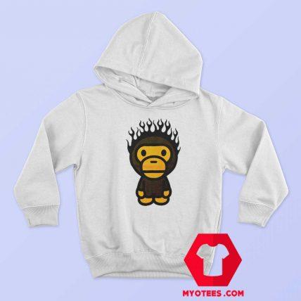 A Bathing Ape Baby Milo Fire Head Unisex Hoodie