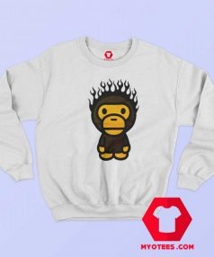 A Bathing Ape Baby Milo Fire Head Unisex Sweatshirt