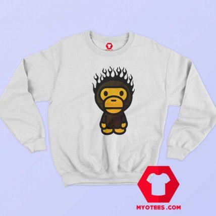 A Bathing Ape Baby Milo Fire Head Unisex Sweatshirt