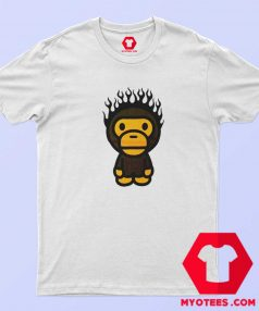 A Bathing Ape Baby Milo Fire Head Unisex T Shirt