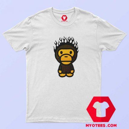 A Bathing Ape Baby Milo Fire Head Unisex T Shirt
