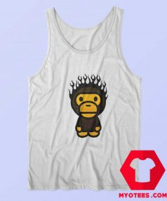A Bathing Ape Baby Milo Fire Head Unisex Tank Top