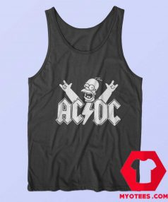 ACDC Simpsons Parody Rock Homer Tank Top