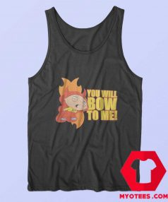 Cartoon Vintage Stewie Bow To Me Tank Top