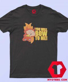 Cartoon Vintage Stewie Bow To Me Unisex T Shirt