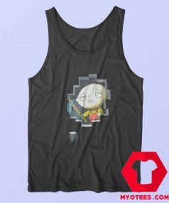 Cartoon Vintage Stewie Griffin Miner Unisex Tank Top