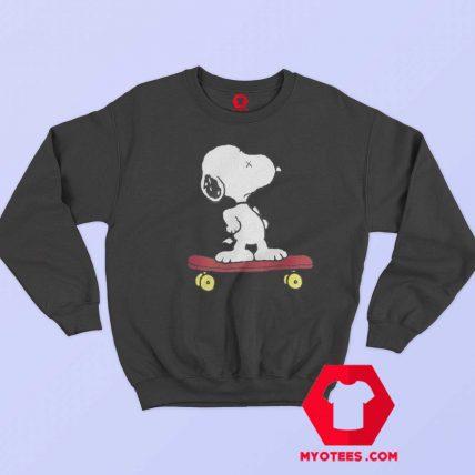 Cute KAWS x Calm Snoopy Peanuts Sweatshirt