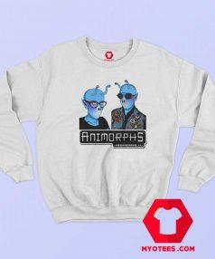 Funny Animorphs Couple Alien Graphic Sweatshirt