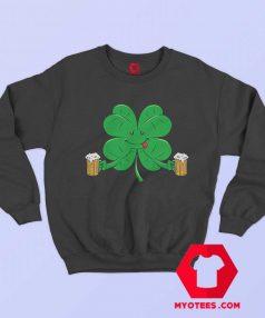 Funny Irish Day St. Pattys Clover Beer Sweatshirt