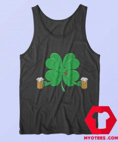 Funny Irish Day St. Pattys Clover Beer Tank Top