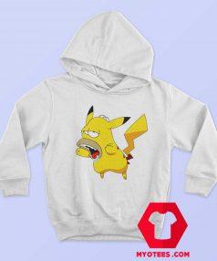 Funny Pikachu Homer Simpson Graphic Hoodie
