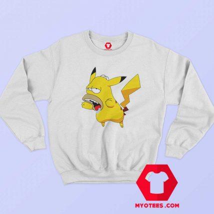 Funny Pikachu Homer Simpson Graphic Sweatshirt