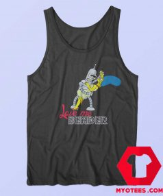 Futurama Love Me Bender Simpsons Tank Top