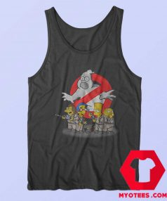 Ghostbuster Simpson Halloween Parody Tank Top