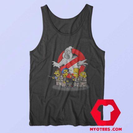 Ghostbuster Simpson Halloween Parody Tank Top