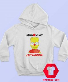 Simpson Red Nose Day Lets Donate Hoodie