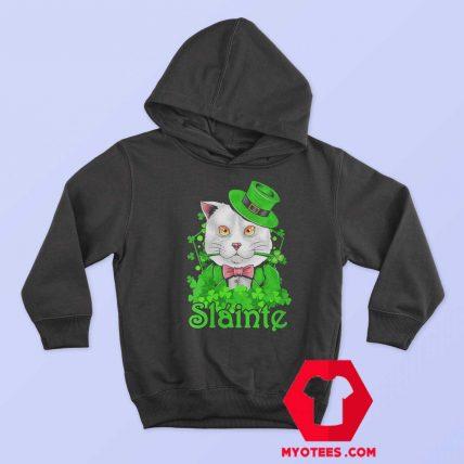 Slainte Irish Cat Cheers Good Health St Paddys Day Hoodie