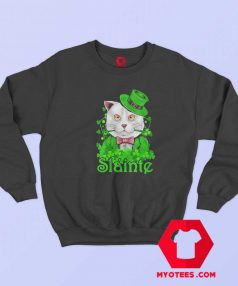 Slainte Irish Cat Cheers Good Health St Paddys Day Sweatshirt