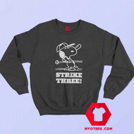 Snoopy Peanuts Vintage Strike Three Sweatshirt