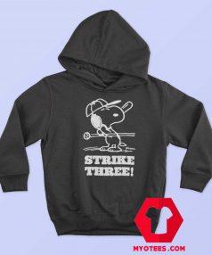 Snoopy Peanuts Vintage Strike Three Unisex Hoodie