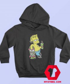 Chillin Simpsons With Skateboard Unisex Hoodie