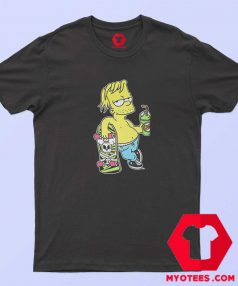 Chillin Simpsons With Skateboard Unisex T Shirt