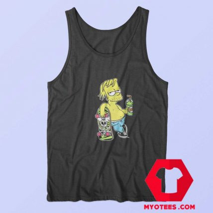 Chillin Simpsons With Skateboard Unisex Tank Top