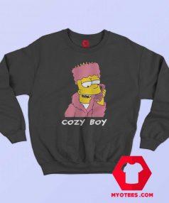 Funny Bart Simpson Cozy Boy Unisex Sweatshirt