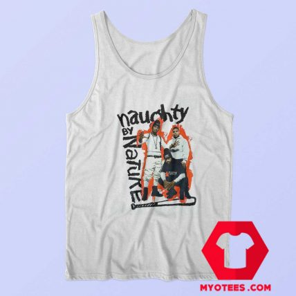 Naughty by Nature Blue Vintage Retro Tank Top