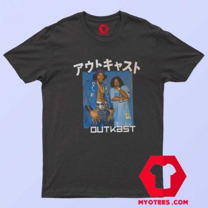 Outkast Katakana Blue Box Hip Hop Rap T Shirt