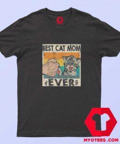 Retro Best Cat Mom Ever Meme Unisex T Shirt