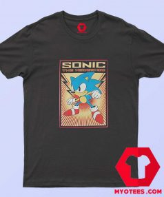 Sonic The Hedgehog Cartoon Poster T Shirt