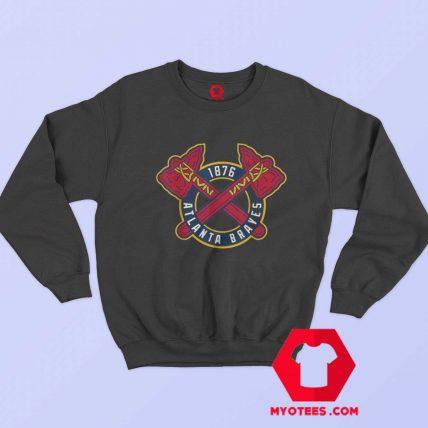 Vintage Atlanta Braves Baseball Logo 1876 Sweatshirt
