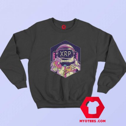 XRP Crypto Currency To The Moon Astronaut Sweatshirt