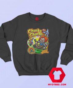 Chucky Charm Horror Movie Cereal Parody Sweatshirt