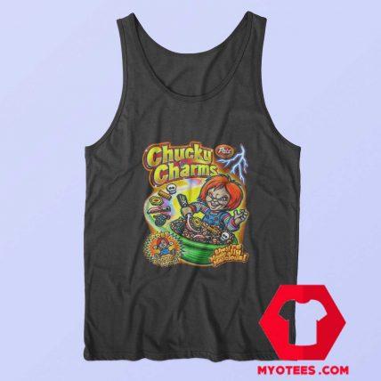 Chucky Charm Horror Movie Cereal Parody Tank Top