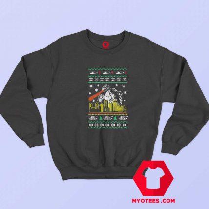 Funny Parody Godzilla Ugly Christmas Sweatshirt