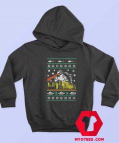 Funny Parody Godzilla Ugly Christmas Unisex Hoodie