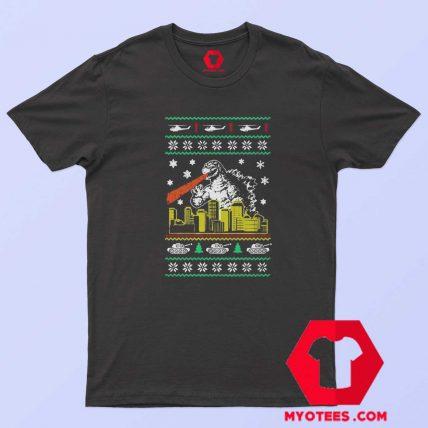 Funny Parody Godzilla Ugly Christmas Unisex T Shirt
