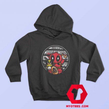 Maneki Deadpool Lucky Superhero Parody Hoodie
