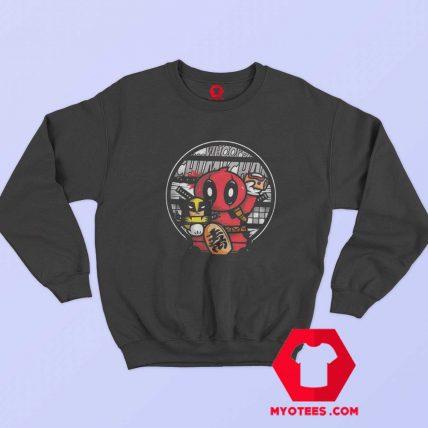 Maneki Deadpool Lucky Superhero Parody Sweatshirt
