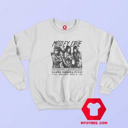 Motley Crue Santa Monica Civic Auditorium Sweatshirt
