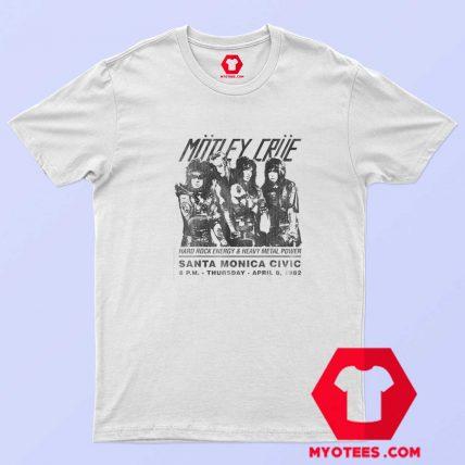 Motley Crue Santa Monica Civic Auditorium T Shirt