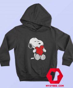 Peanuts Valentine Snoopy Hugging Heart Hoodie