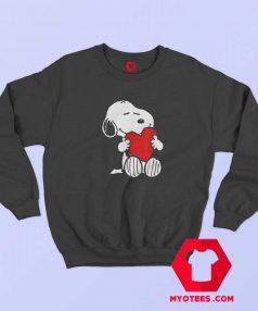 Peanuts Valentine Snoopy Hugging Heart Sweatshirt