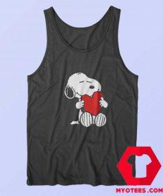 Peanuts Valentine Snoopy Hugging Heart Tank Top