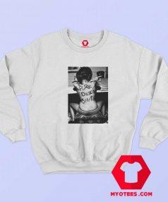 Pure Disco Shit Bad Girl Graphic Unisex Sweatshirt